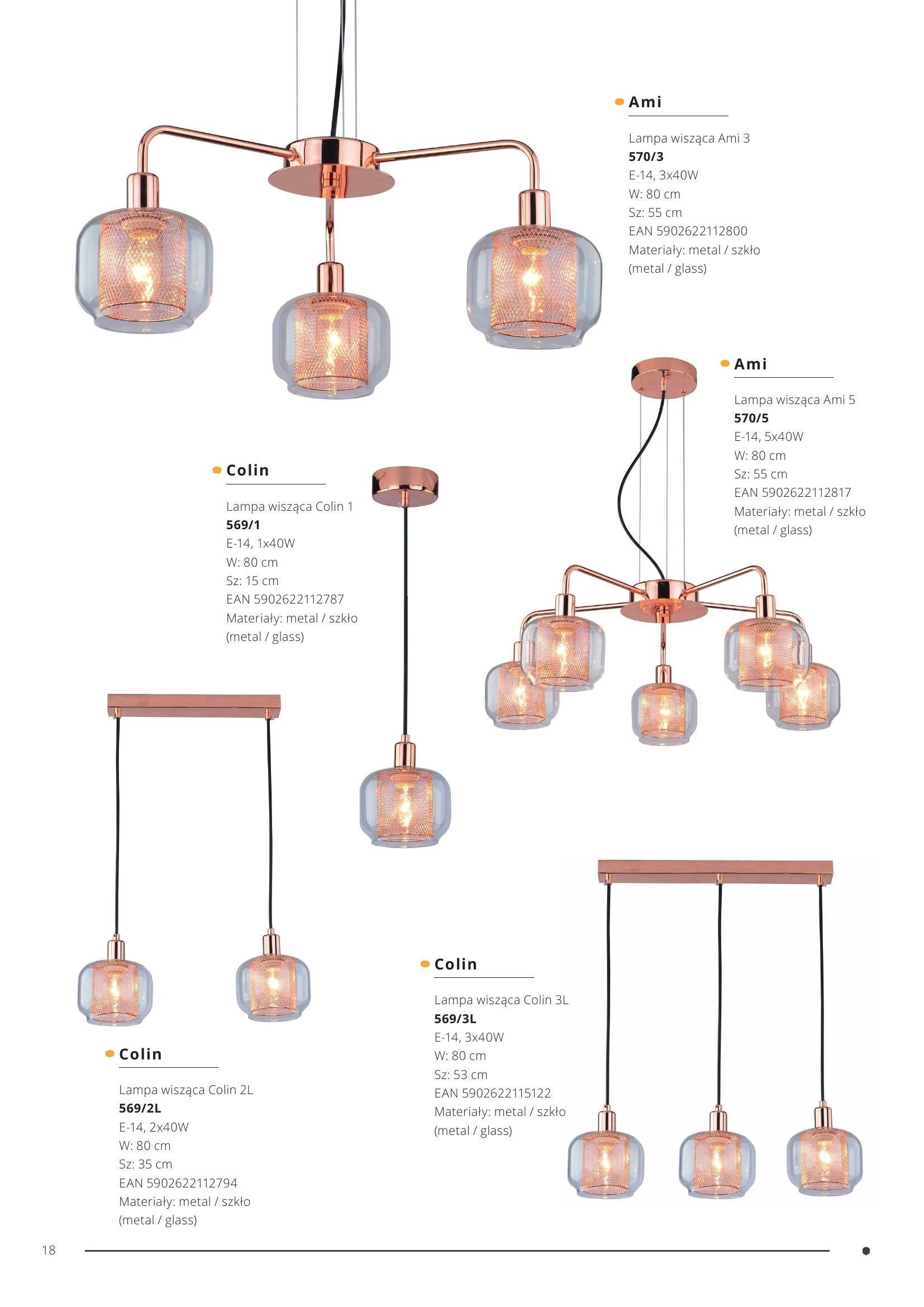 Lampa wisząca Ami 5
