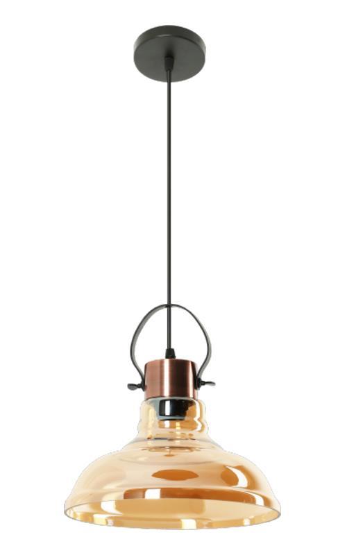lampa wisząca loft bursztynowa
